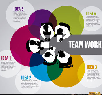 Business teamwork infographics - vector gratuit #179819