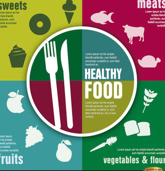 Healthy food diet infographics - vector gratuit #179839