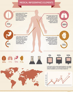Men medical infographics elements - vector gratuit #179859
