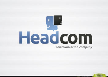 Head Clouds Communication Logo - Free vector #179919