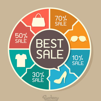 Puzzling Around Sale Chart Infographic - vector gratuit #179989