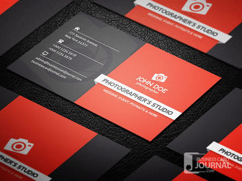 Creative Professional Photography Business Card - бесплатный vector #180039