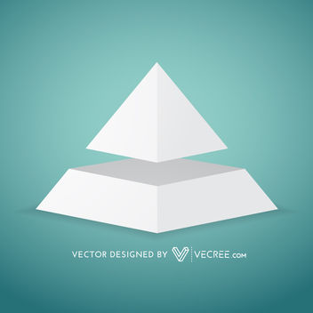 3D Grey Pyramid Diagram Template - vector gratuit #180079