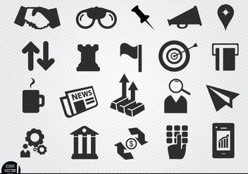 Monetary business icons set - vector gratuit #180129