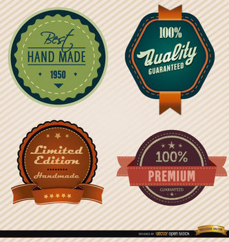 4 Product special feature badges - vector gratuit #180139