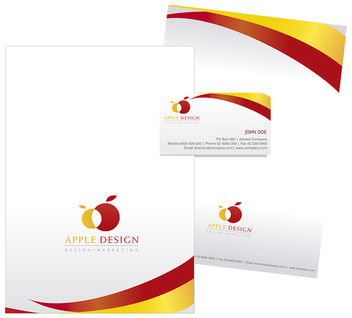 Stationary design on Yellow and Red - vector gratuit #180279