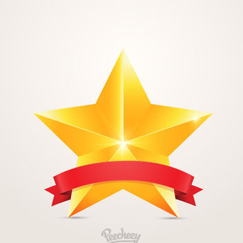 First Place Award Badge Star - vector #180379 gratis