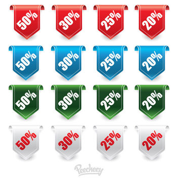 Promotional Hanging Sale Label Pack - Free vector #180389