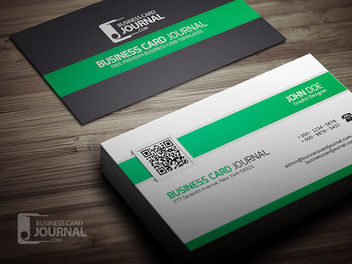 Stylish Business Card with QR Code - vector #180409 gratis