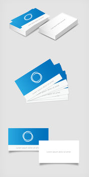 Classic Business Card Mockup - Free vector #180419