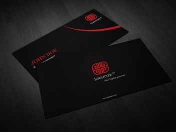 Luxury Black Business Card Template - vector gratuit #180529