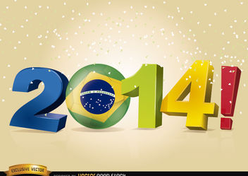 Brazil 2014 Soccer World Cup - Free vector #180539