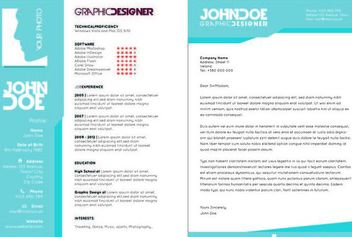 Creative 2 Page Resume Template - Free vector #180569