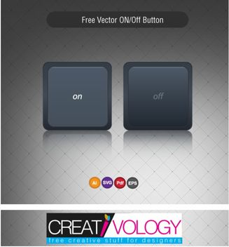 Dark On Off Button - Free vector #180599