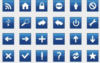 Rectangle Blue Signs - vector gratuit #180669