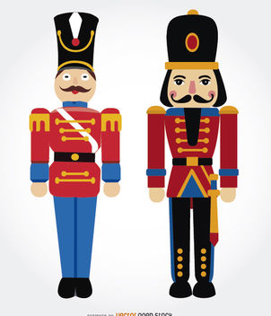 Two Nutcrackers - vector gratuit #180689