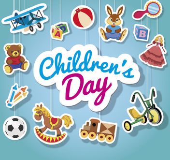 Children's day hanging toys - vector gratuit #180699