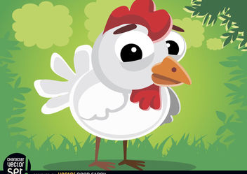 Cute hen animal cartoon - Free vector #180799