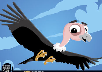 Vulture flying cartoon animal - vector gratuit #180829