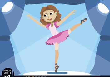 Ballerina performing on stage - vector gratuit #180949
