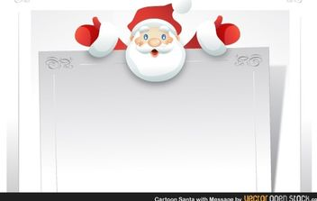 Cartoon Santa with message - vector #181159 gratis