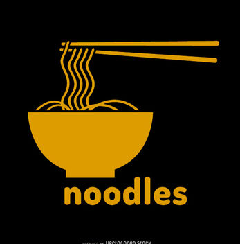 Noodles bowl vector logo - бесплатный vector #181369