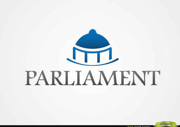 Blue Dome Parliament Logo - vector gratuit #181389