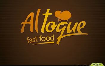 Fast Food Typographical Creative Logo - Free vector #181419