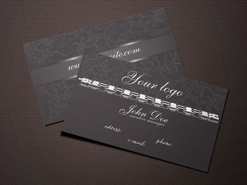 Dark Jewelry Business Card Design - Free vector #181529