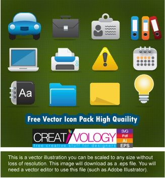 Beautiful Glossy Detail Icon Pack - vector #181759 gratis