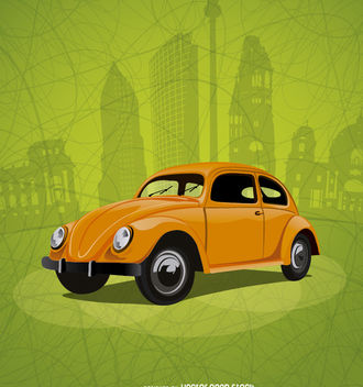 Beetle vintage in Berlin - vector gratuit #181799