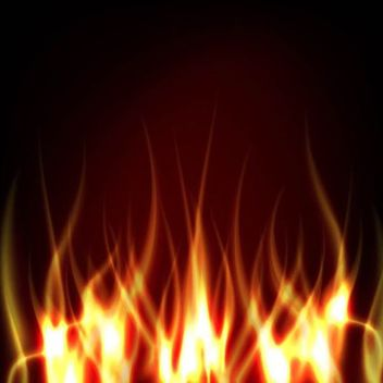 Realistic Fire on Darkish Background - vector gratuit #181919