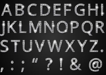 Diamond Style Alphabetic Typeface - Free vector #181979