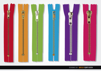 6 Colors zippers - Kostenloses vector #181999