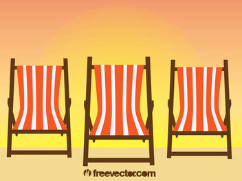 Relaxation Beach Chairs - vector gratuit #182009