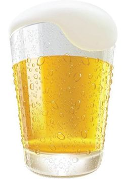 Realistic Pouring Frosty Beer Glass - vector gratuit #182049