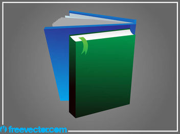 3D Books with Blank Cover - vector gratuit #182129