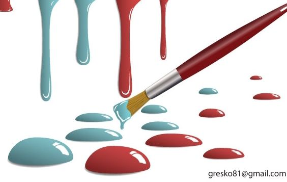 Paint Drops - Free vector #182169