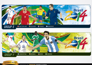 Headers with groups Brazil 2014 - бесплатный vector #182279