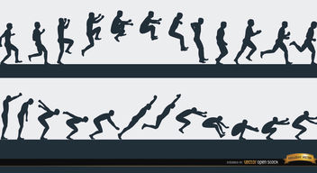 Jumping man sport sequence - Free vector #182329