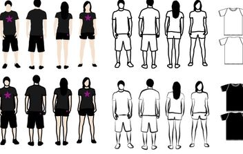 T-Shirt Models 2 - vector gratuit #182469