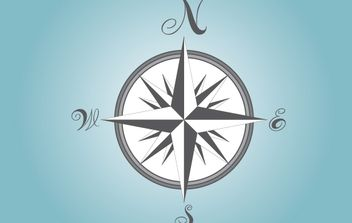 Gray Compass - vector #182499 gratis