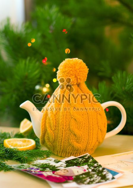 Teapot in knitted hat - Free image #182619