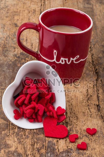 Coffee in cup and hearts - Free image #182989