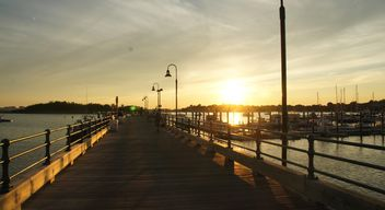 Sunset in the Boston Harbor - image #183359 gratis