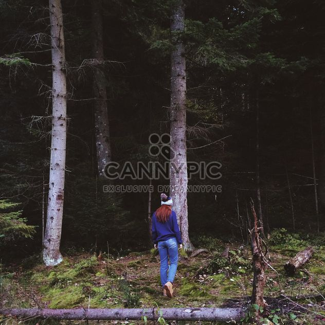 Long-haired girl in forest - Free image #183529