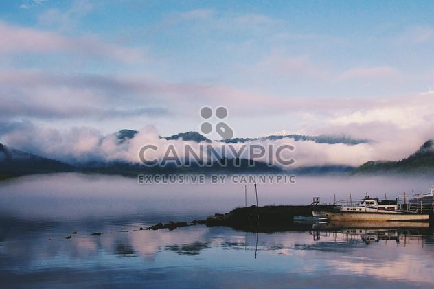 Thick fog on the lake - Free image #183689