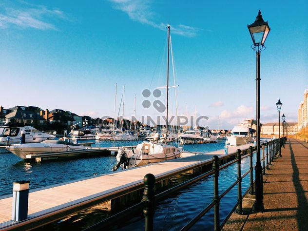 View on yachts in harbour, England - Free image #183929