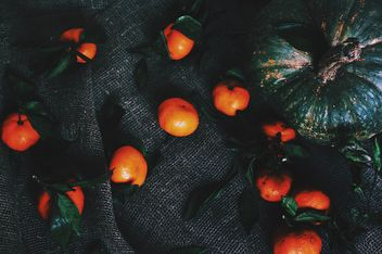 Pumpkin and tangerines - Free image #184079