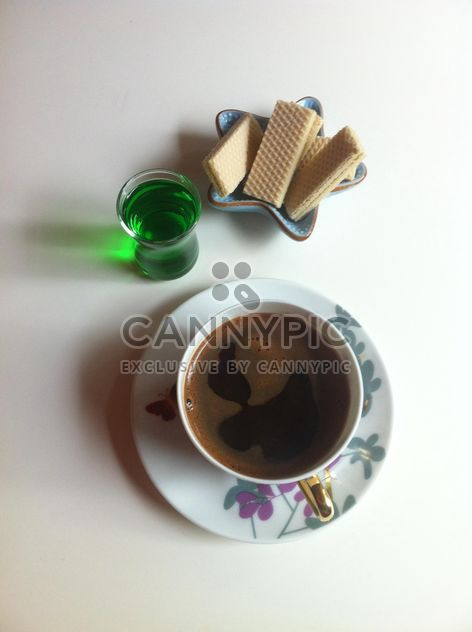 Coffee in porcelain cup - Free image #185789